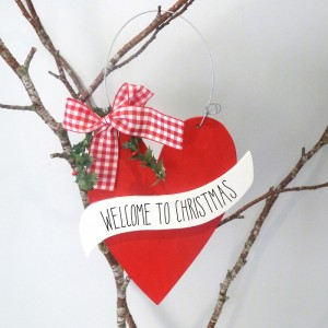 Christmas Welcome Sign
