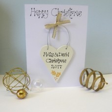 Personalised Gold Christmas Card