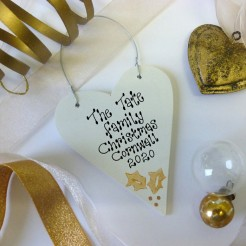 Personalised Gold Christmas Decoration