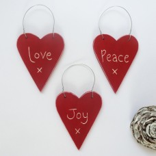 Love Peace and Joy Hearts