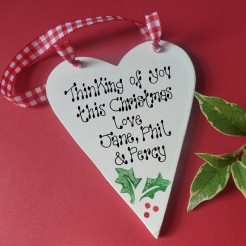 Christmas Message Heart
