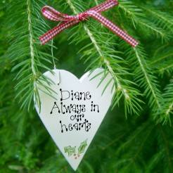 Personalised Christmas Memory Heart