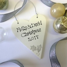 Personalised Silver Christmas Decoration