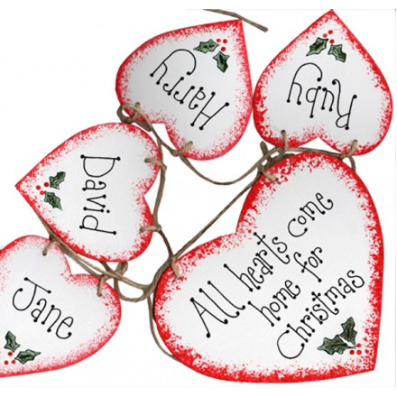 Personalised Garland 5 Hearts