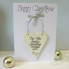 Personalised Silver Christmas Card