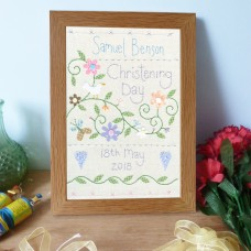 Boys Personalised Christening Sampler