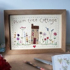 Personalised Embroidered Country House Picture
