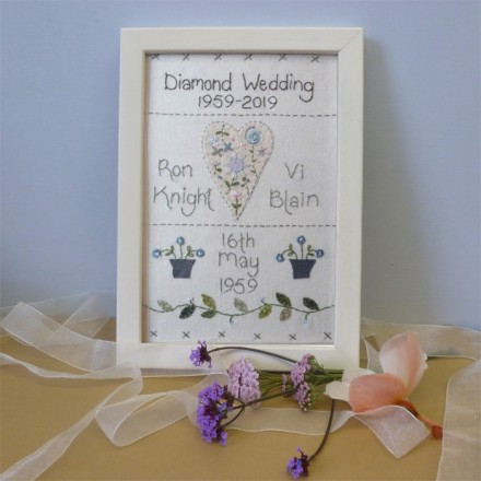 Diamond Wedding Anniversary Sampler