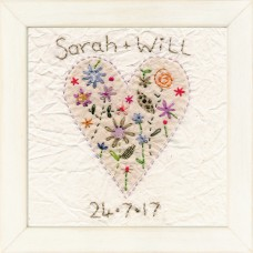 Personalised Heart Picture (Antique flower)