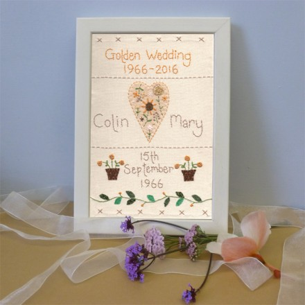Golden Wedding Anniversary Sampler