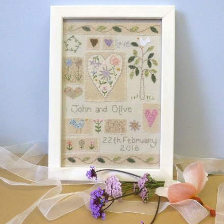 Personalised Wedding Love Sampler