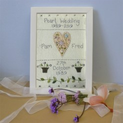 Pearl Wedding Anniversary Sampler