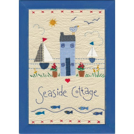 Personalised Embroidered Beach House Picture