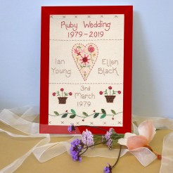 Ruby Wedding Anniversary Sampler