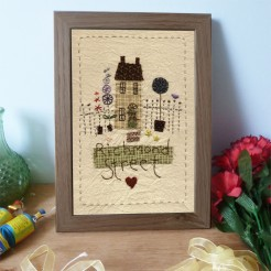 Personalised Embroidered Town House Picture
