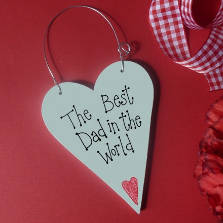 Personalised Fathers Day Message Heart
