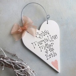 Mother Of The Bride Personalised Heart