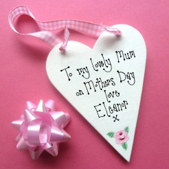Personalised Mother's Day Message Heart