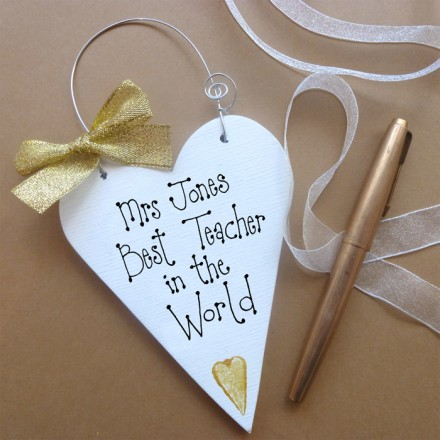 Personalised Teachers Message Heart