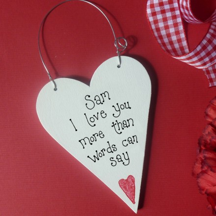 Personalised Valentine Message Heart