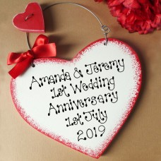 Personalised Anniversary Sign