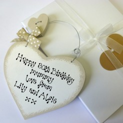 Personalised Birthday Sign and Gift Box