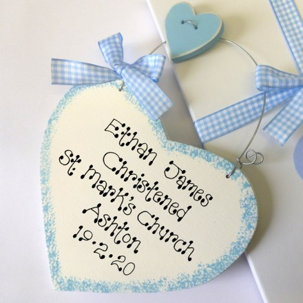 Boys Personalised Christening Gift Box