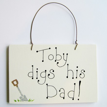 Personalised 'Champion Dad' Father's Day Sign