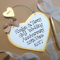 Personalised Golden Anniversary Sign