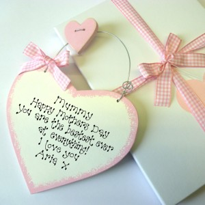 Personalised Mothers Day Heart Sign Gift