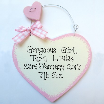 Personalised New Baby Sign