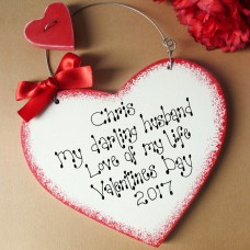 Personalised Valentine Sign