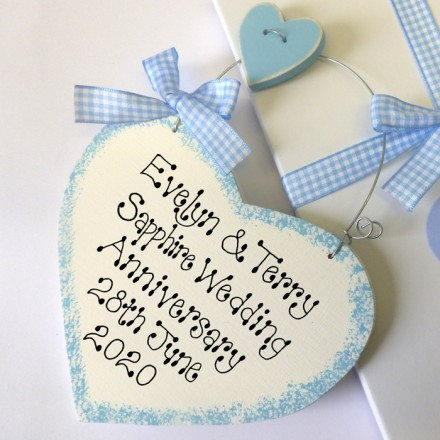 Personalised Sapphire Anniversary Sign