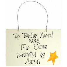 Personalised Best Teacher In The World Sign