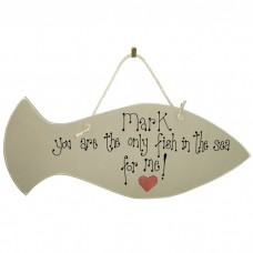 Personalised Valentine Fish Sign