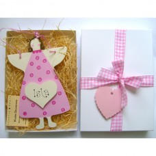 Personalised Angel Gift Box (Pink)
