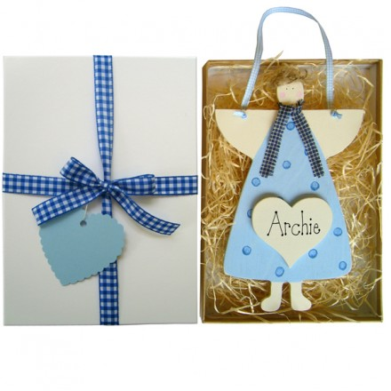 Personalised Angel Gift Box (Blue)