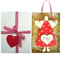 Personalised Angel Gift Box (Red)