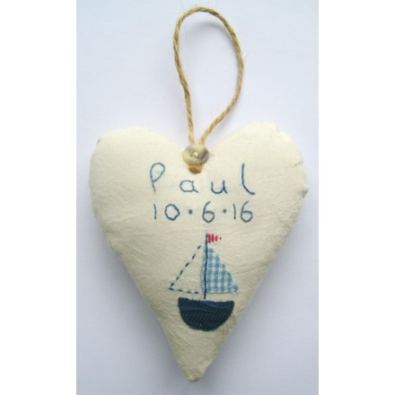 Baby Boy's Personalised Birthdate Heart
