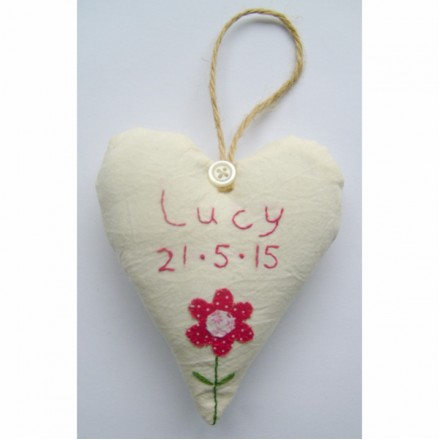 Baby Girl's Personalised Birthdate Heart