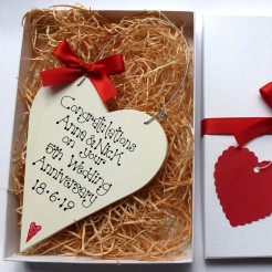 Personalised Anniversary Heart Gift Box