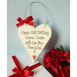 Personalised Birthday Heart Gift Box
