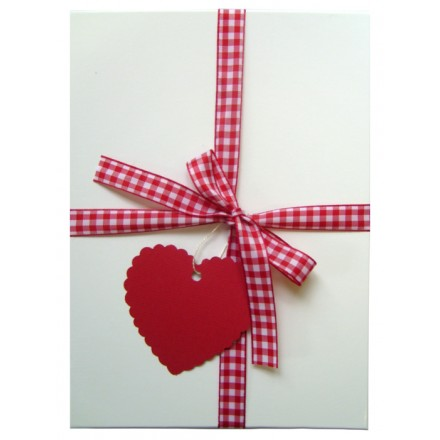 Red Gingham Gift Box