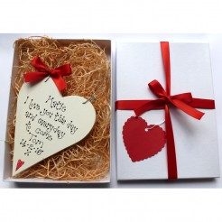 Personalised Valentine Heart Gift Box