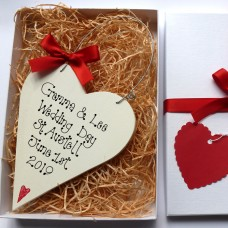 Personalised Wedding Heart Gift Box