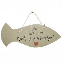 Personalised 'best dad in the world' Fish Sign