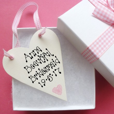 Bridesmaid Personalised Love Token