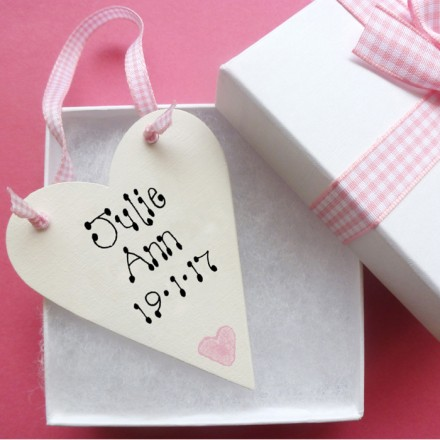 New Baby Personalised Love Token