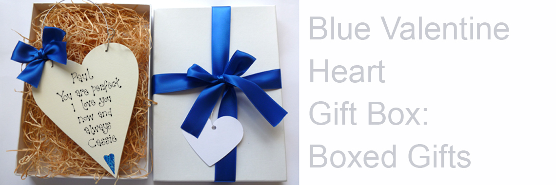 Personalised Blue Valentine Gift Box